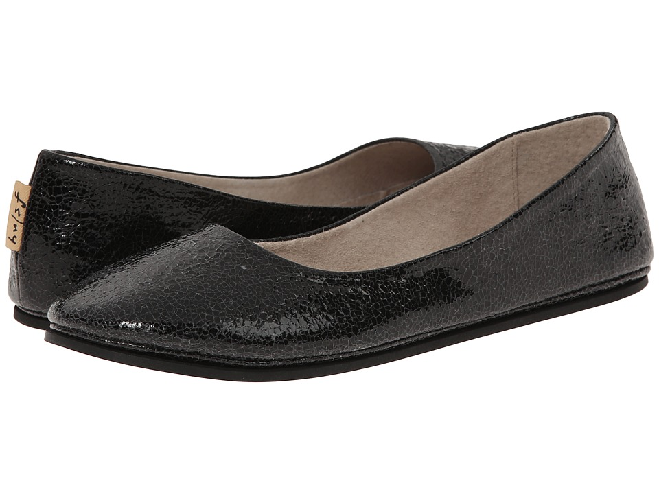 French Sole - Sloop (Black Small Crackle) Women's Flat Shoes