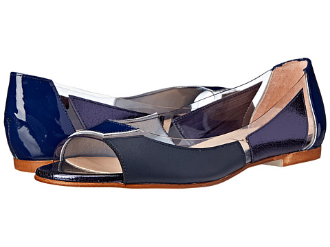 French Sole - Nisim (Navy Patent/Nappa/Foil w/ Foil) Women