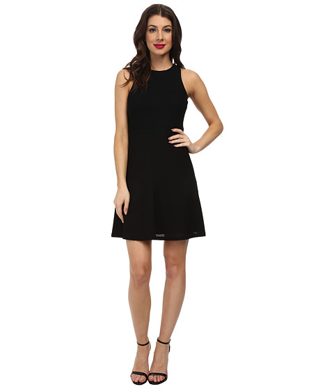 Jessica Simpson - Fit Flare Mesh Dress JS5V6924 (Black) Women's Dress