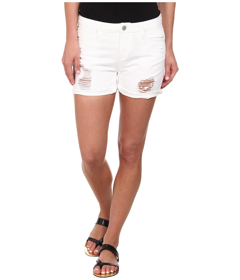 Blank NYC - White Ripped Longer Short in As If (As If) Women's Shorts