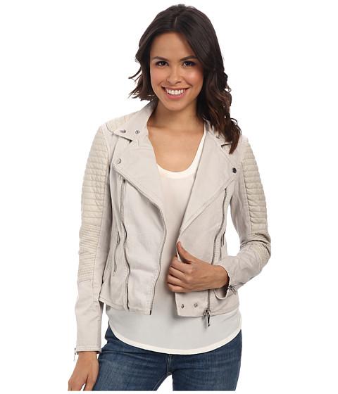 Blank NYC - Beige Moto Jacket in Sympathy Seeker (Sympathy Seeker) Women's Jacket