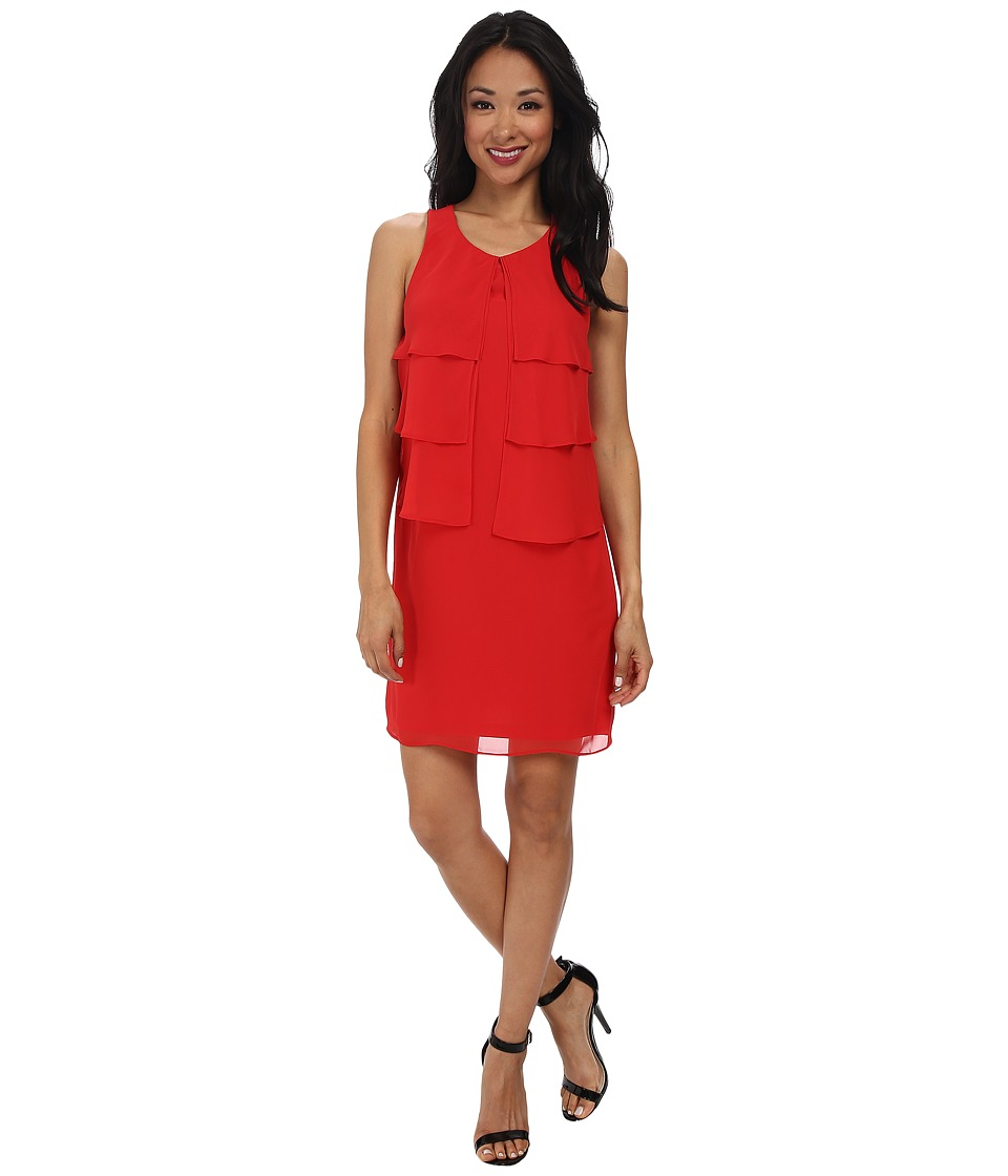 Jessica Simpson - Sleeveless Tiered Dress JS5U7074 (Red) Women's Dress