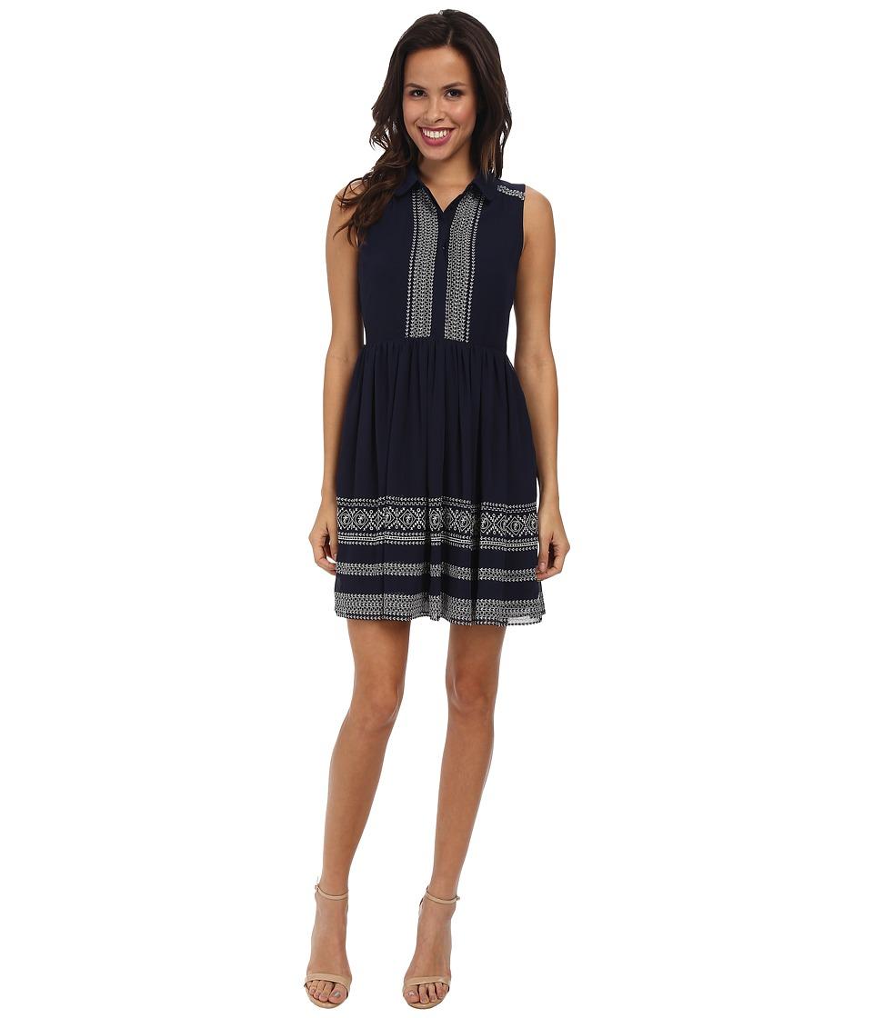 Jessica Simpson Sleeveless Embroidered Dress JS5U6902 (Evening Blue) Women