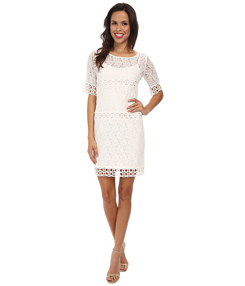 Jessica Simpson - Lace Shift Dress JS5D7077 (Ivory) Women's Dress