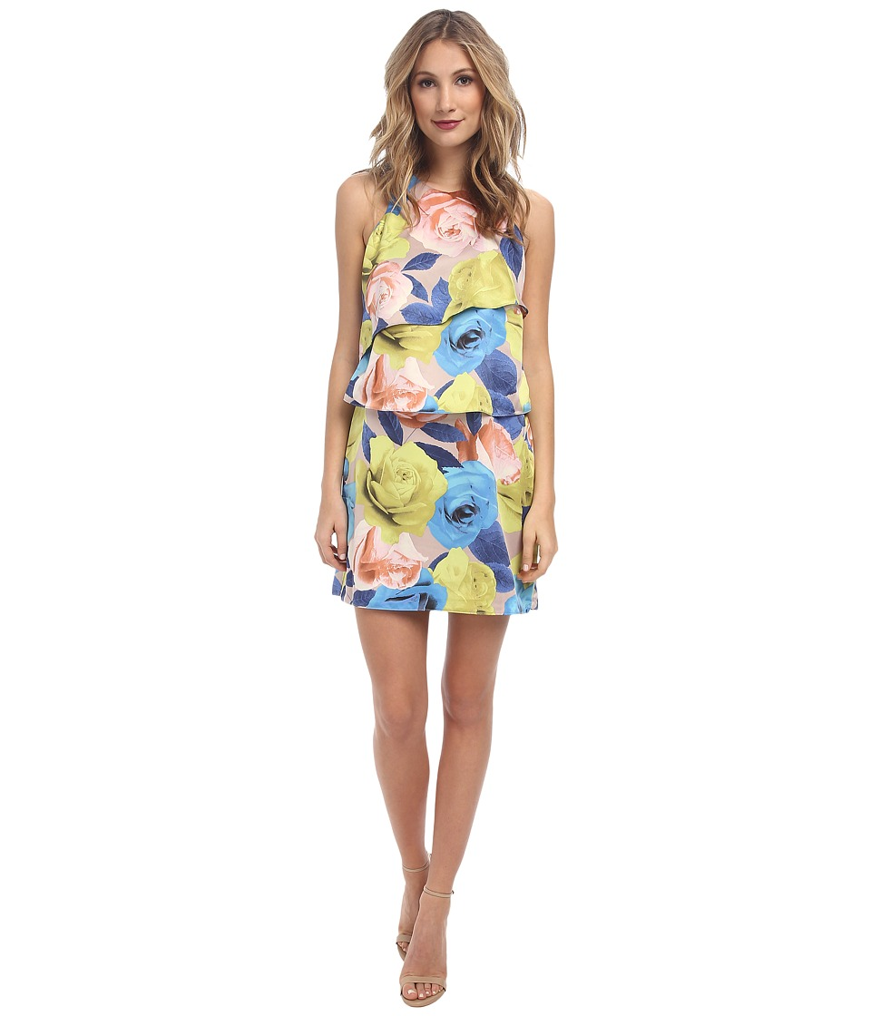 Jessica Simpson - Tiered Popover Dress JS5U7158 (Lexie Print) Women's Dress
