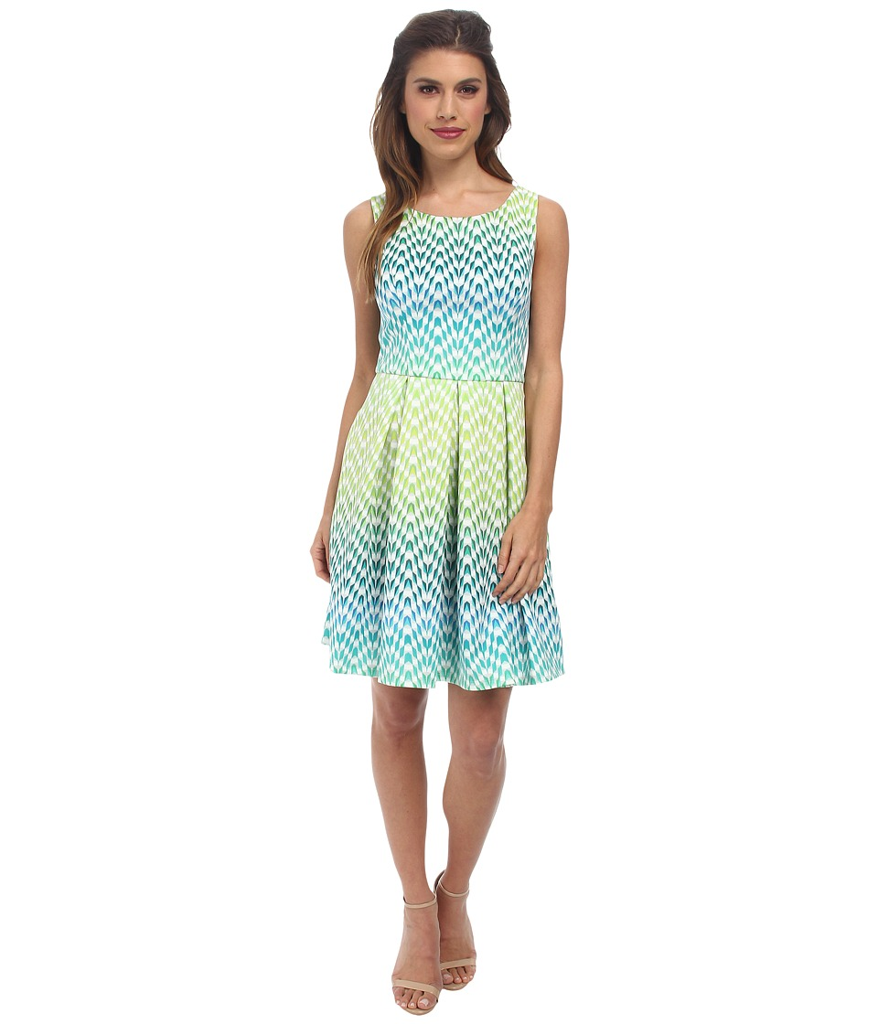 Jessica Simpson - Scuba Fit Flare Dress JS5X7141 (Suzanne Print) Women's Dress