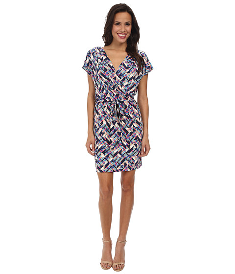 Jessica Simpson - Ity Faux Wrap Printed Dress (Print) Women