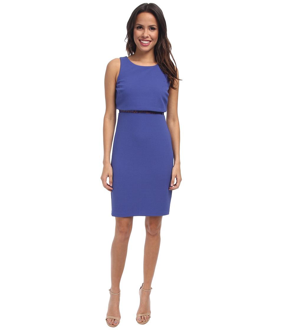 Jessica Simpson Pop Over Sleeveless Dress w/ Ace Illusion (Blue Iris) Women