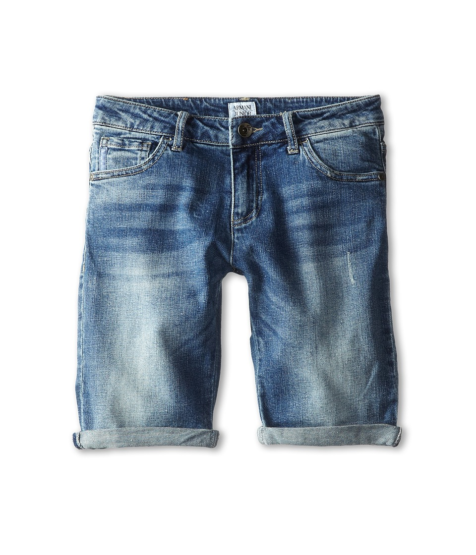 Armani Junior - Denim Short (Big Kids) (Denim) Boy's Shorts