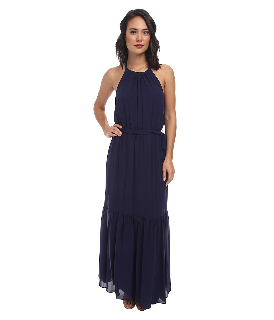 Jessica Simpson - Lazer Back Detail Maxi Dress (Evening Blue) Women's Dress
