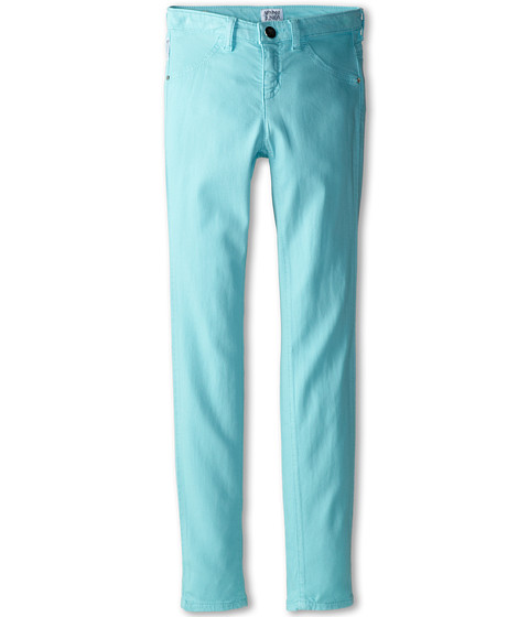 Armani Junior - Teal Stretch Jegging (Big Kids) (Light Blue) Girl's Casual Pants