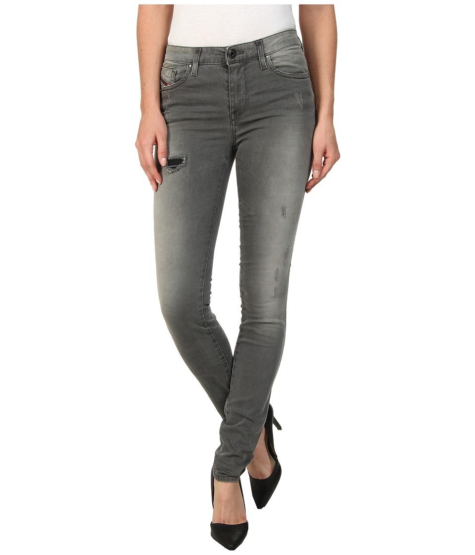 Diesel - Skinzee Super Skinny 0662D (Grey) Women