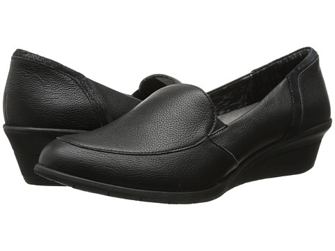 Hush Puppies - Lulu Ware (Black Leather) Women's Wedge Shoes