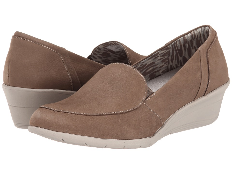 Hush Puppies - Lulu Ware (Taupe Nubuck) Women's Wedge Shoes