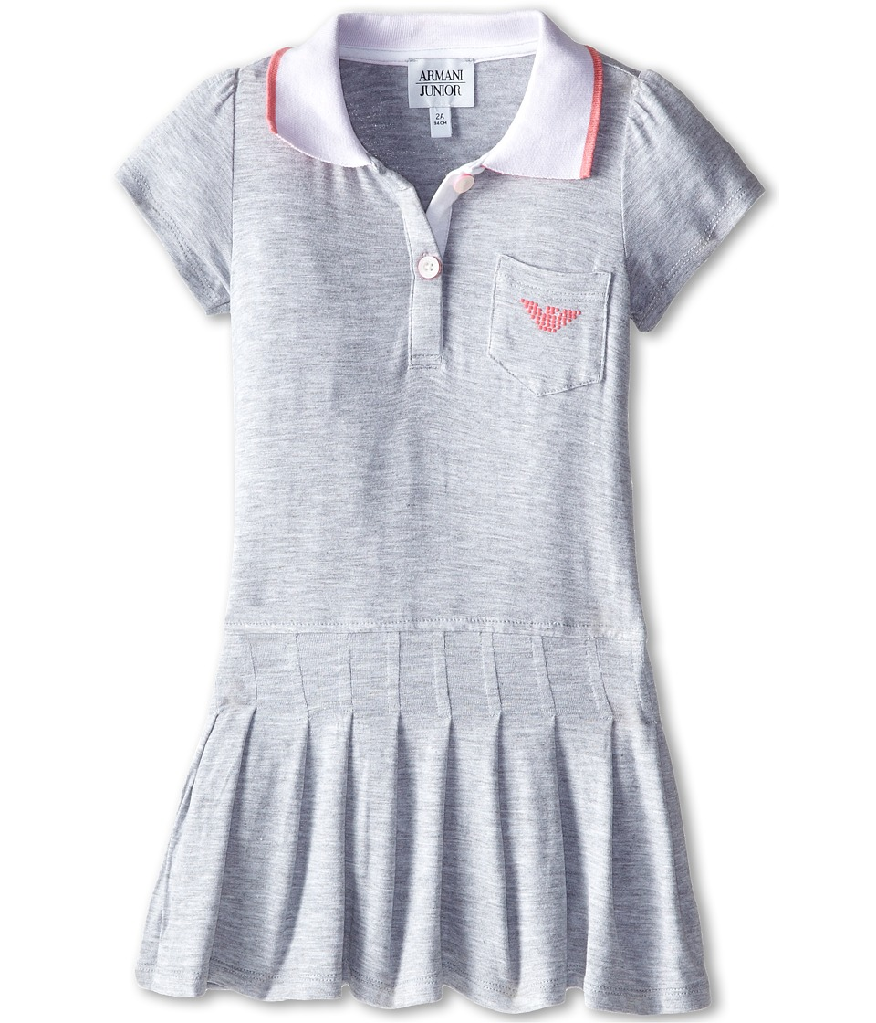 Armani Junior - Tennis Dress w/ Pink Detail (Toddler/Little Kids/Big Kids) (Dark Grey) Girl