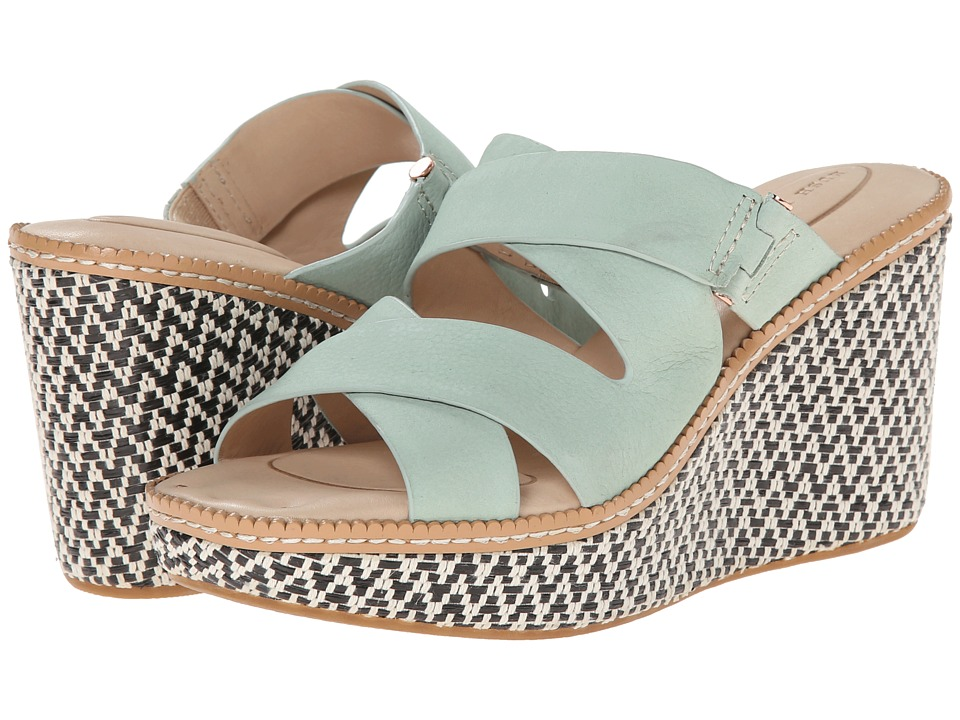 Hush Puppies - Allie Dalten (Light Aqua Nubuck) Women's Wedge Shoes