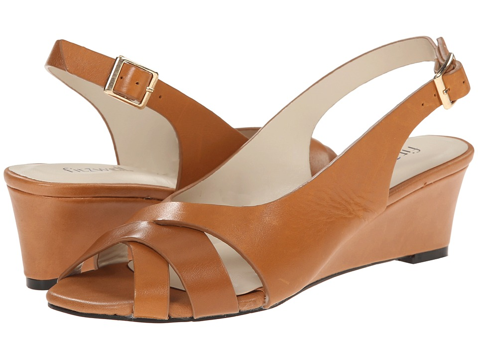 Fitzwell - Aero (Luggage Burnished Leather) Women's Sandals