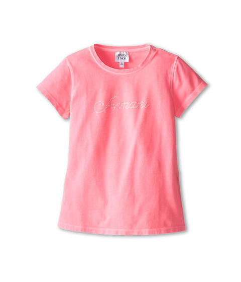 Armani Junior - Hot Pink Short Sleeve Tee (Toddler/Little Kids/Big Kids) (Pink) Girl's T Shirt