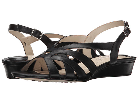 Fitzwell - Ping (Black Burnished Leather) Women's Sandals