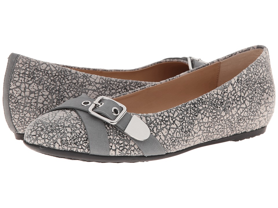 Hush Puppies - Dallas Hailey (Grey Marble Leather) Women