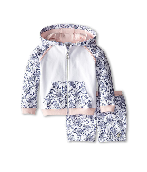 Armani Junior - Two-Piece Hooded Set w/ Shorts Hoodie (Toddler/Little Kids/Big Kids) (Patterned) Girl's Active Sets