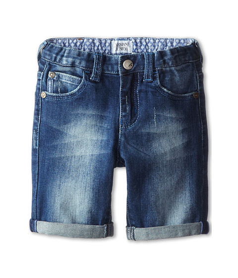 Armani Junior - Denim Short (Toddler/Little Kids) (Denim) Boy's Shorts