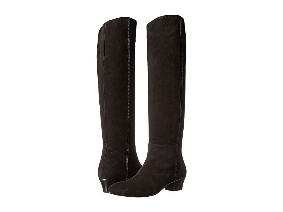 CoSTUME NATIONAL Tall Suede Boot (Nero) Women