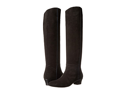 CoSTUME NATIONAL - Tall Suede Boot (Nero) Women's Boots