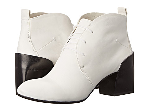 CoSTUME NATIONAL - 45mm Lace-Up Bootie (White) Women's Lace-up Boots