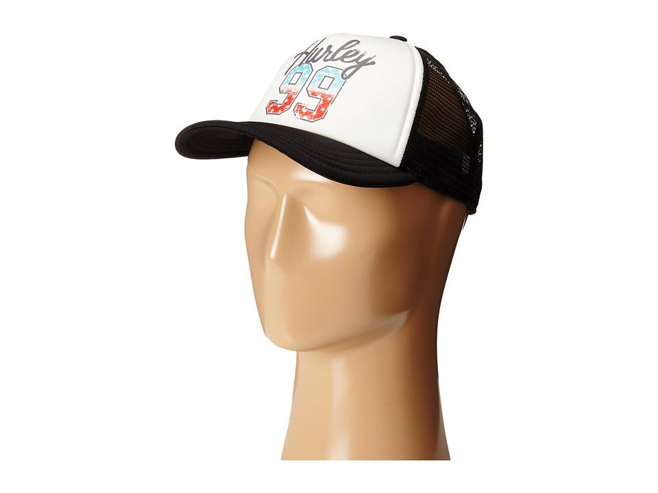 Hurley - Americana Trucker Hat (White) Caps