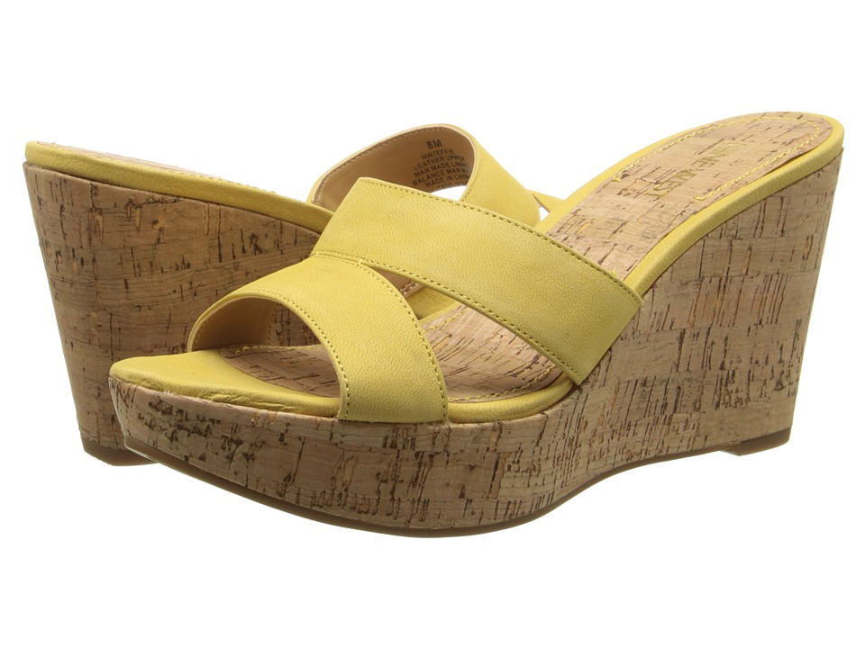 Nine West - Effie (Yellow Nubuck) Women's Wedge Shoes