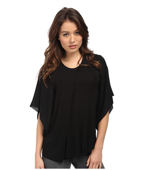 CoSTUME NATIONAL - Viscose Jersey Dolman Sleeve Top (Nero) Women's Blouse