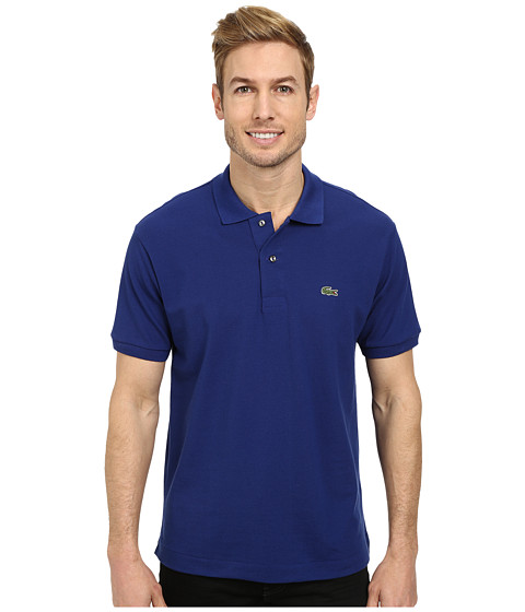 Lacoste - L1212 Classic Pique Polo Shirt (Varsity Blue) Men's Short Sleeve Knit