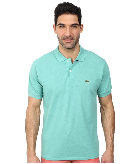 Lacoste - S/S Classic Pique Chine Polo Shirt (Mint Chine) Men's Short Sleeve Pullover