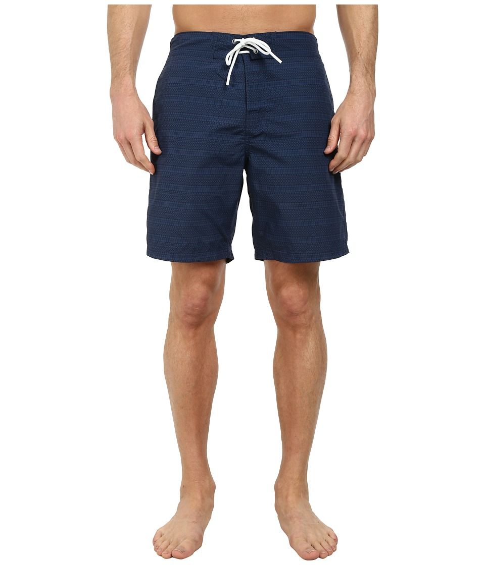 Lacoste - Poplin Printed Swim 8 (Philippines Blue/Navy Blue) Men's Swimwear