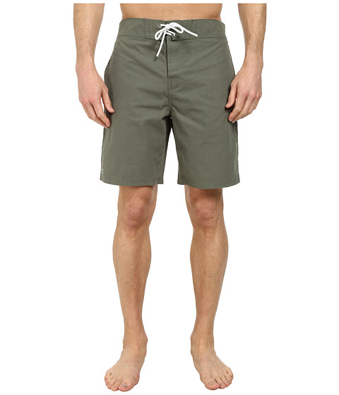 Lacoste - Poplin Board Swim Short 8 (Army Green) Men's Swimwear