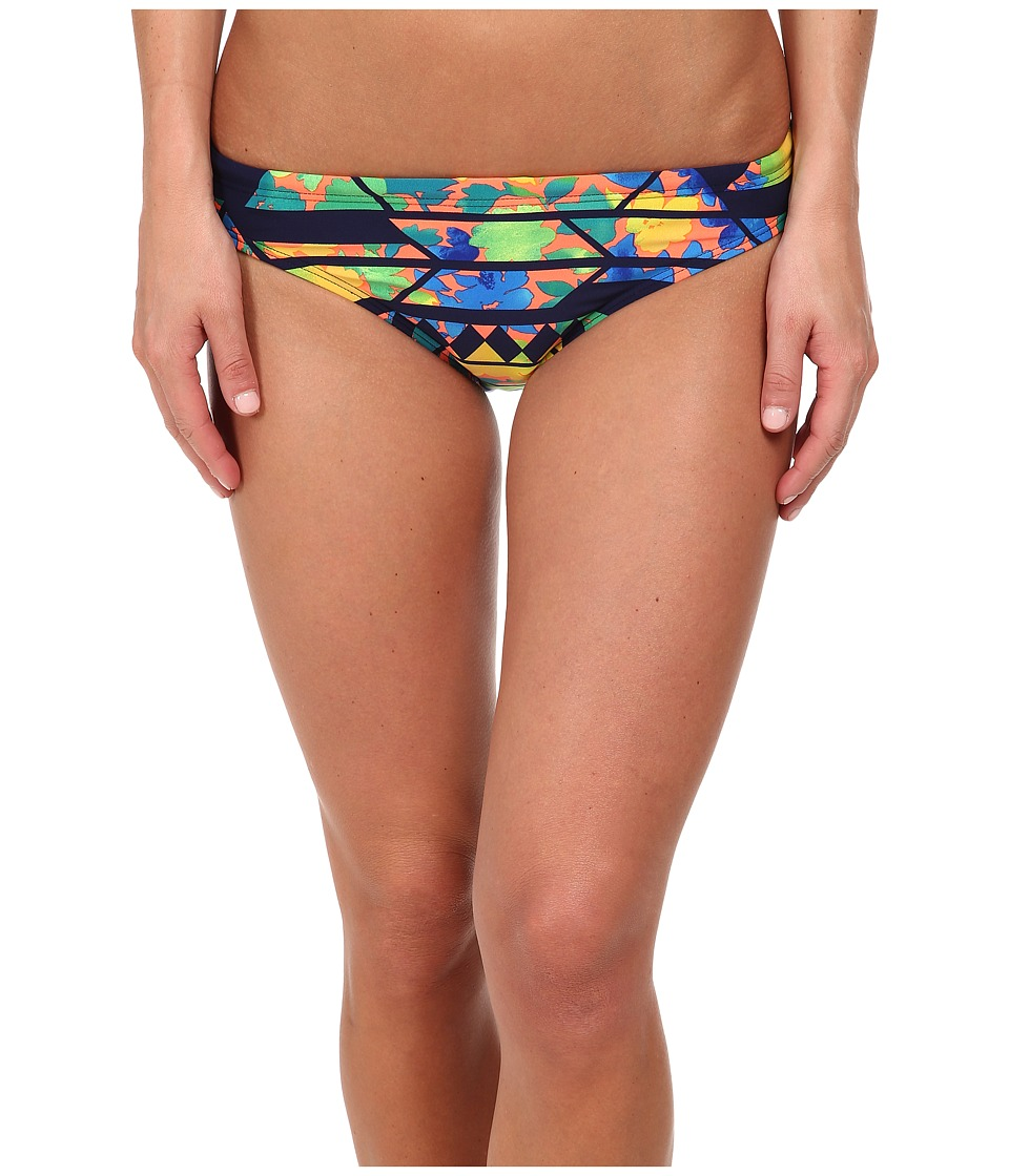 TYR - Santa Rosa Active Bikini Bottom (Navy/Coral) Women's Swimwear