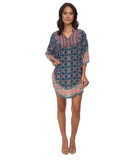 Tolani - Belle Kaftan Dress (Navy) Women's Dress