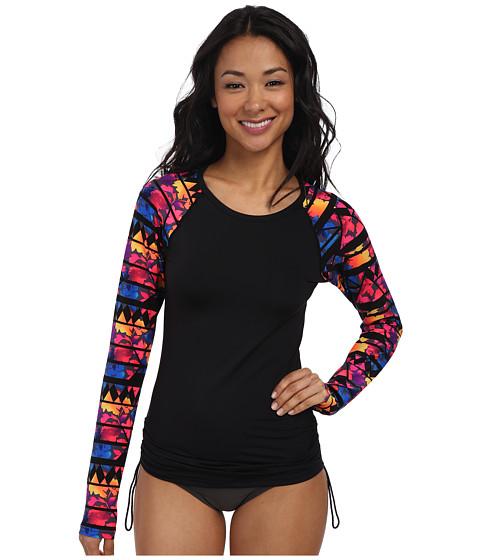 TYR - Santa Rosa Long Sleeve Swim Shirt (Black/Multi) Women's Swimwear