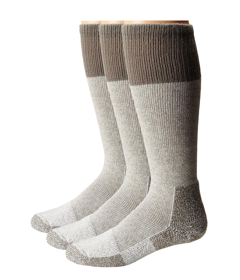 Thorlos - Hunting Warm Weather 3-Pair Pack (Grey) Crew Cut Socks Shoes