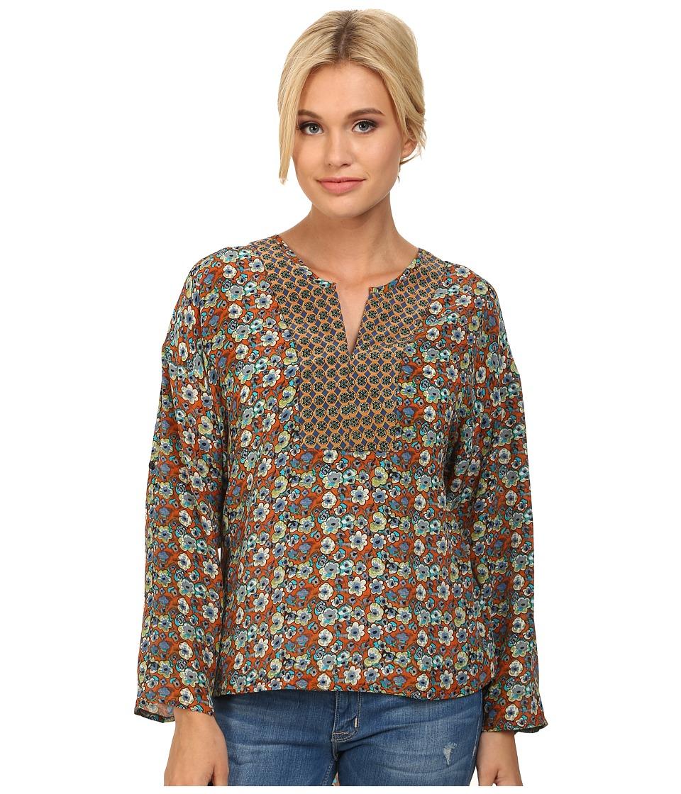 Tolani - Malia Top (Orange) Women's Clothing