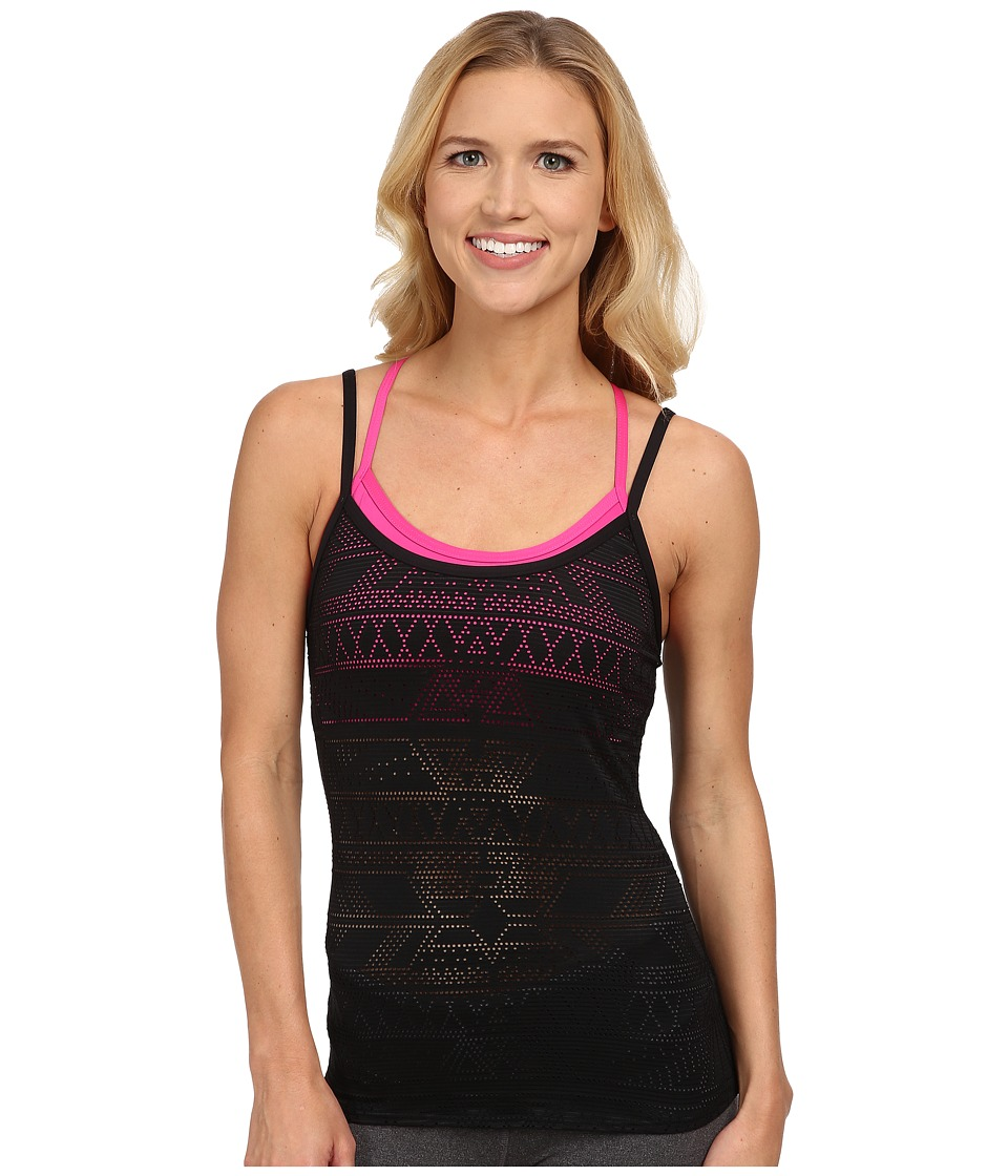 TYR - Mesh Paired Up Tank (Black/Pink) Women's Swimwear