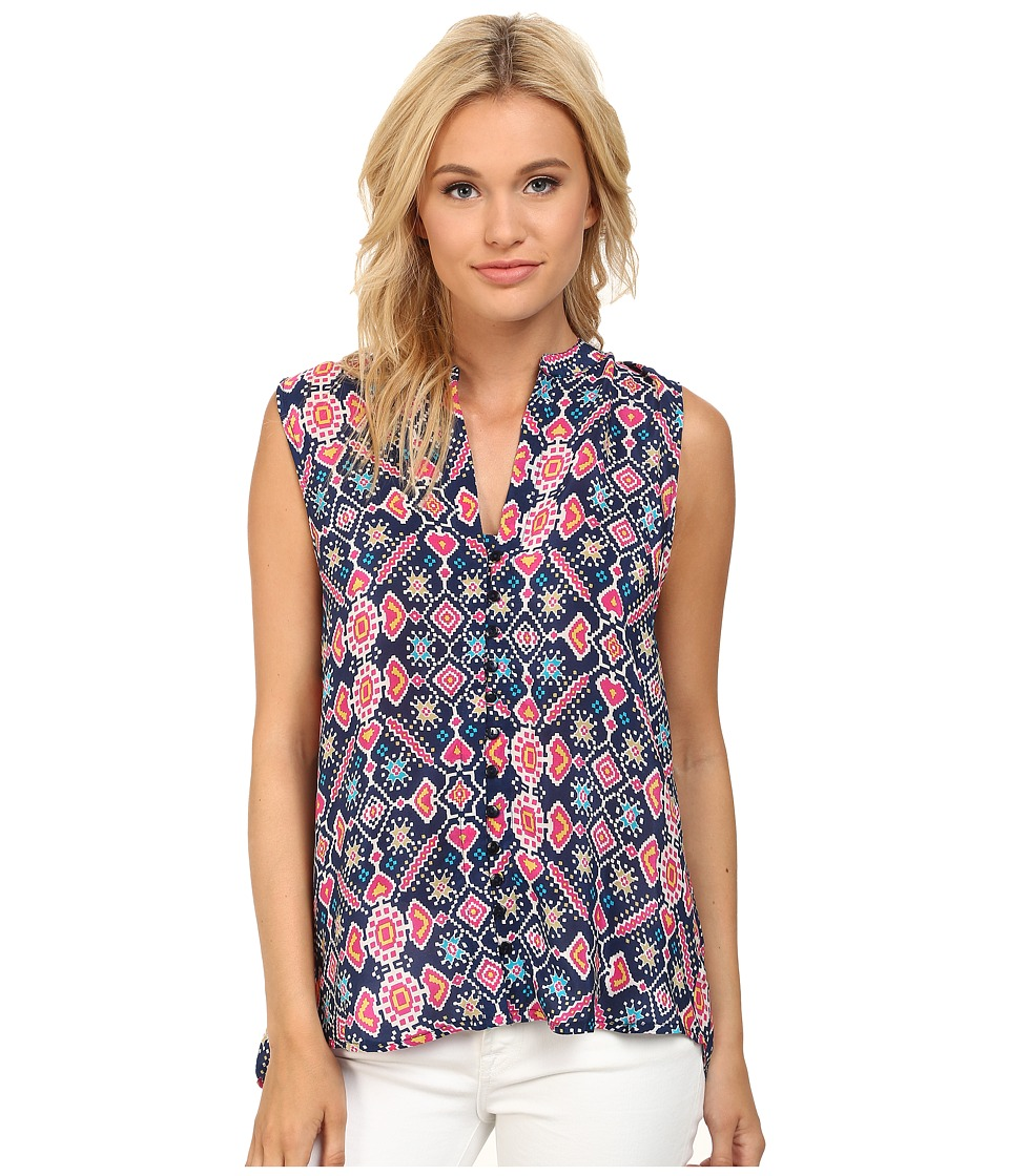 Tolani - Whitney Sleeveless Top (Navy) Women's Sleeveless