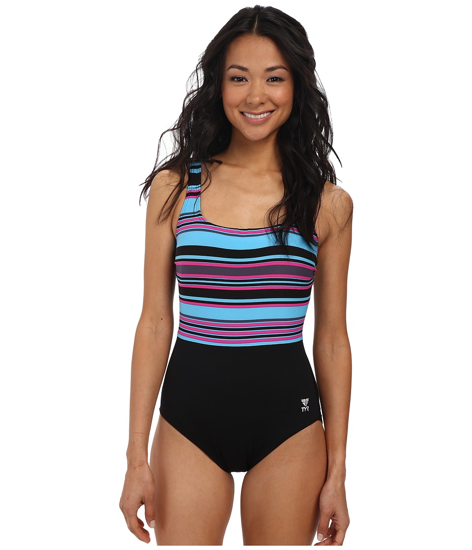 TYR - Delray Aqua Controlfit (Black Multi) Women's Swimsuits One Piece