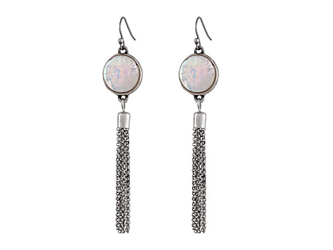 Lucky Brand - Pearl Chandelier Drops Earrings (Silver) Earring