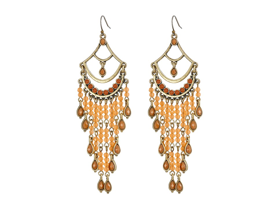 Lucky Brand - Drama Carnelian Earrings (Gold) Earring