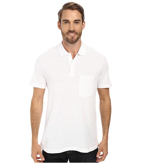Lacoste - Cotton Linen Polo with Pocket (White) Men