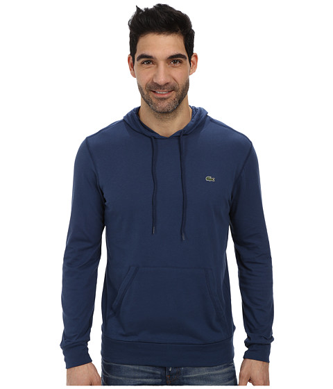 Lacoste - Jersey T-Shirt Hoodie (Philippines Blue) Men