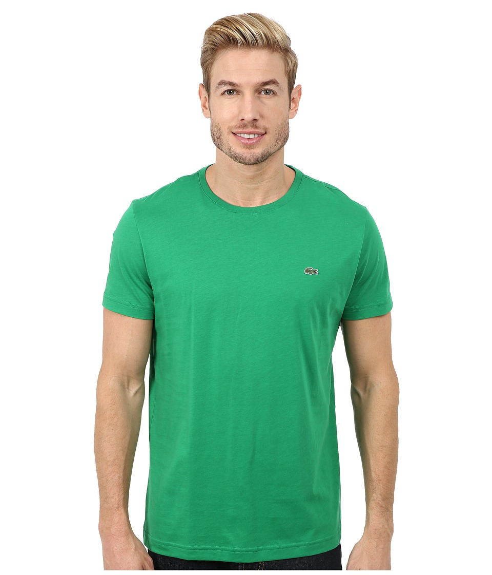 Lacoste - Short-Sleeve Pima Jersey Crewneck T-Shirt (Chlorophyll Green) Men's T Shirt