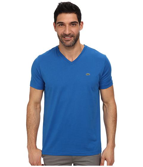 Lacoste - S/S Pima Jersey V-Neck T-Shirt (Laser) Men